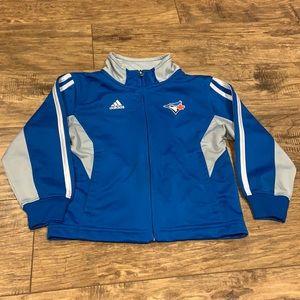 Toronto Blue Jays adidas zipup long sleeve sweater